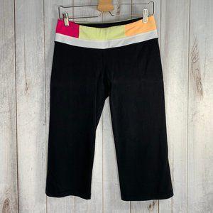 Lululemon Groove Crop Black & Quilt Yoga Leggings